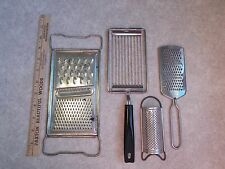 4 Vintage Graters Slicer All in One Ekco Japan Germany Handle Kitchen Utensils