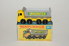 MATCHBOX #51 8-WHEEL TIPPER DUMP TRUCK, POINTER, EXCELLENT, BOXED