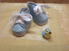 For Bitty Baby & Twin Dolls LIGHT BLUE LACE UP HIGH TOP SHOES & BABY DUCKY  Sale