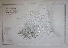 1837-45 LEGAZIONE DI RAVENNA Mappa Zuccagni Orlandini Corografia d'Italia