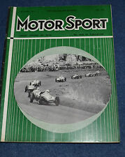 Motor Sport May 1960 Brussels GP, Ford Falcon, Auto Union 1000S