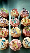 12 My Little Pony Edible wafer/rice paper cake/cupcake toppers