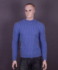 Mohair Pullover in Größe M oder L und Farben: blau oder weiß (nach Wahl)