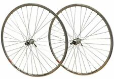 700c PAIR Road Racer Bike Mach CFX Rims Joytech Screw on Hubs Wheels Set Silver