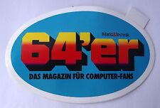 Aufkleber 64er 64´er Computer-Magazin Markt&Technik 80er Commodore C64 Sticker