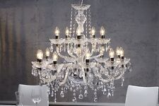 Kronleuchter   BELLEVUE XL   klar Krone Lüster Hängelampe Licht Lampe Leuchte