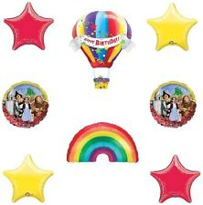 Over the RAINBOW Wizard of Oz Hot Air 8 Birthday Party Mylar Balloons Set Kit