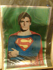 SUPERMAN CHRISTOPHER REEVES 1978 3D HOLOGRAM MOVIE POSTER 30 X 21 INCHES