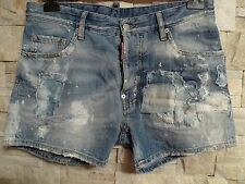 DSQUARED2 SUMMER2014 100%AUTHENTIC  DISTRESSED DENIM SHORTS ITALY SIZE 48 /US 34