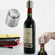 Stainless Steel Silver Vacuum Sealed Wine Bottle Stopper Plug Bottle Cap Corks