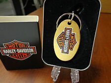 HARLEY DAVIDSON LOGO ZIPPO KEY RING MINT GOLD PLATED HARD TO FIND 5400GHD H252