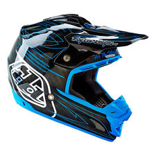 Troy Lee Designs – SE3 Doubleshot Blue Composite Helmet - LG