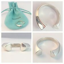 STUNNING VERY RARE SOLID SILVER TIFFANY & CO TENDERNESS RING SIZE N