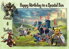 personalised birthday card lego nexo knights son grandson brother nephew b