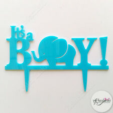 It's A Boy Cake Topper Acrylic Baby Shower Decorations Party Blue Cute Unique