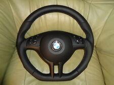 TUNING VOLANTE IN PELLE + AIRBAG BMW e39 e46 m3 m5 x5 in basso spianate top.