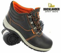 MENS LADIES SAFETY WORK LEATHER STEEL TOE CAPS BOOTA HIKER ANKLE SHOES SIZE 3-13