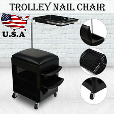 New 2in1 STOOL TROLLEY Nail Pedicure Manicure Chair Station salon beauty