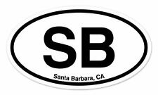 "SB Santa Barbara California Oval car window bumper sticker decal 5"" x 3"""