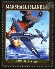 TBF / TBM-1C AVENGER WWII Torpedo Bomber Aircraft Mint Stamp (2013)