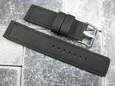 20mm Black PVC Composite Rubber Diver Strap Watch Band Seamaster Maratac 20