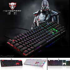 Motospeed Inflictor CK104 Mechanical Keyboard Gaming Switches Backlight RGB Nice
