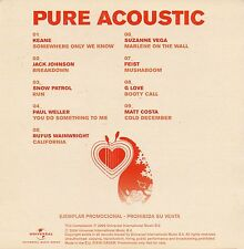 "WAINWRIGHT / KEANE / PAUL WELLER / VEGA ""PURE ACOUSTIC"" SPANISH PROMOTIONAL DVD"