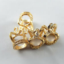 37805 KC Gold Tone Alloy King Crown Pendants Charms Crafts Findings 10pcs