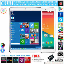 CUBE i6 AIR INTEL 1.83GHz Quad Core Dual os WINDOWS 10 ANDROID 4.4 Tablet PC