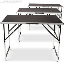 Set of 3 Folding Work Tables Home DIY Workshop Display Portable Camping Outdoor