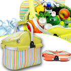 20L THERMAL INSULATED BBQ CAMPING PICNIC COOLER ICE FOOD DRINK LUNCH BAG BASKET