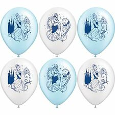 (6ct) Princess Cinderella Birthday Latex Balloons Party Supplies 12""