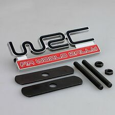 WRC Front Grill Badge Red Rally Emblem Logo Car Grille Metal Evo Impreza