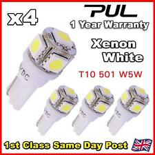 4 X 5 SMD LED T10 W5W 501 PUSH WEDGE INTERIOR LIGHT / GLOVE BOX 360 WHITE