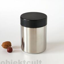 Lundtoft Denmark stainless steel design F. Uldall COPERCHIO Lattina STORAGE JAR 60s 60er