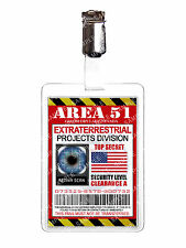 Area 51 Extraterrestrial Division Alien ID Badge Cosplay Prop Costume Halloween