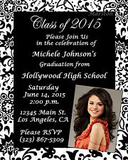 50 Graduation party photo announcements invitations *Choose Any Design*