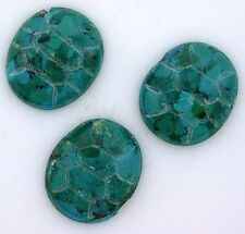 One 4/5 x 7/10 Inch Oval Natural Carved Scarab Turquoise Cab Cabochon Gemstone