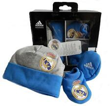 ADIDAS Real Madrid grey blue hat boot Toddlers CALCIO Set Regalo Boxed d85865