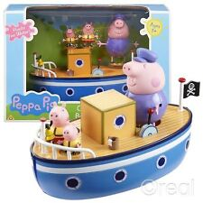 NUOVO Peppa Pig Grandpa'S Floating Bathtime PIG Boat Playset & Figure ufficiali