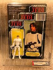 Vintage Star Wars 1983 AFA 80 LUKE SKYWALKER STORMTROOPER TRI-LOGO BACK CARD MOC