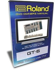 Roland (Boss) GT-6 DVD Video Training Tutorial Help