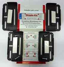 Rahmenlose Kennzeichenhalter Schwarz Nummernschildhalter Set 4 Klipse