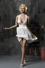 DIY Marilyn Monroe 1/6 Action Figure Dress Shoes Full set W/Phicen Body
