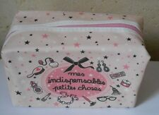 "trousse de  toilette maquillage  rose ""mes indispensables petites choses"""