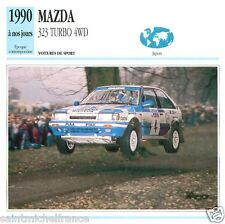 MAZDA 323 TURBO 4WD 1990 à nos jours CAR VOITURE JAPAN JAPON  CARTE CARD FICHE