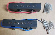 J-Bass Pickup Set / JAZZ Bass Set / Black with Mounting Screws & Springs / New