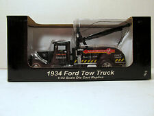 NIB Crown Premiums Snap On Tools Promo 1/43 Die Cast Black 1934 Ford Tow Truck