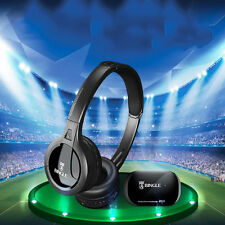 Wireless Over-Ear Headband Headset Cordless Headphone with FM For TV PC Computer