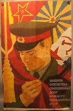 Rare Original 1986 Russian Communist Propaganda Poster